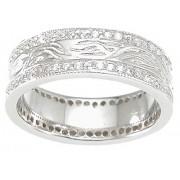 Sterling Silver Mens Cubic Zirconia Wedding rings