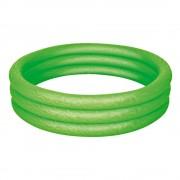 Zöld háromgyűrűs, felfújható medence