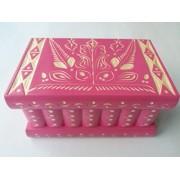Gran rompecabezas de madera magia misterio secreto caja caso hermosa mano tallada de almacenamiento de joyas complicado juguete especial (Barbie rosa)