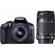 Canon EOS 1300D DSLR Camera (with EF-S 18 - 55 mm IS II & EF-S 55 - 250 mm IS II)