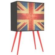 Sun Buffet Reino Unido 2 Portas Impressas Com Garrafeiro 32791 Sun House