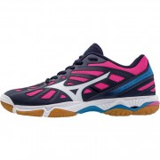 mizuno Damen-Volleyballschuh WAVE HURRICANE 3 - Peacoat/White/Diva Blu