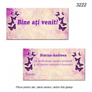 Place Card Personalizat Botez
