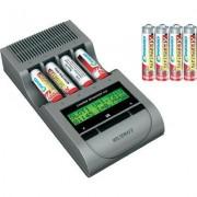 Voltcraft Charge Manager 410 akkutöltő + 4 db NiZn mikro NiZn és 4 db NiZn ceruza akku (200062)