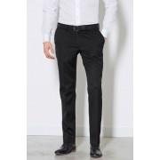 Mens Next Plain Front Slim Fit Trousers - Black
