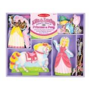 Melissa & Doug Lila & Lucky Magnetic Dress-Up Set - Pink
