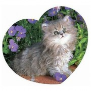 Master Pieces Cuddly Me Kitty Heart 500 Piece Jigsaw Puzzle