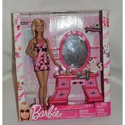 Barbie Glam! Doll & Play Set Pink Dressing Room
