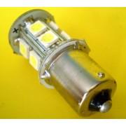 Bec auto 1156 / B15S LED alb (pozitie, semnalizare)