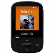 SanDisk Clip Sport 4GB MP3 Player Black With LCD Screen and MicroSDHC Card Slot- SDMX24-004G-G46K