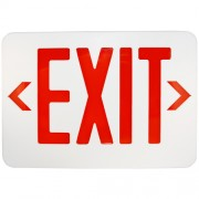 Lithonia Lighting EXR LED EL M6 Red LED Exit Sign with Battery Back-up
