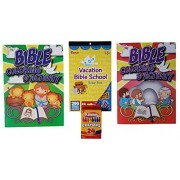Kids Activity Kit: Bible Themed Bundle of 4 Items: 2 Coloring & Activity Books, 1 Sticker Book, and 1 Pack of...