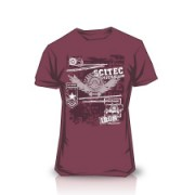 Camiseta Made of Iron Burgundy