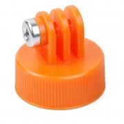 TMC HR383 Surfing Plastique Bouteille Monture supérieure Adaptateur pour Trépied pour GOPRO HERO4 Session / 4/3 + / 3/2/1, Diamètre intérieur: 28.5mm (Orange)