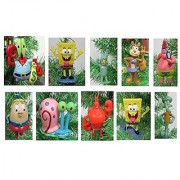 SpongeBob SquarePants Christmas Ornament Set - Plastic Shatterproof Ornaments Ranging from 3 to 4