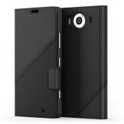 Husa de piele Mozo Thin Flip pentru Microsoft Lumia 950, Black Golf