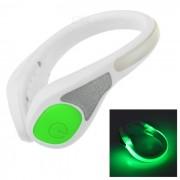 Salzmann Outdoor Cycling / Running Men's Reflective LED Shoe Light Green 2-Mode - White + Green