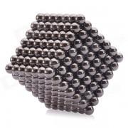 5mm Magnetic Balls Perles Sphere Cube Puzzle Neocube Intelligence Toy - Noir (343 PCS)