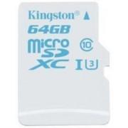Card de memorie Kingston SDCAC/64GBSP, microSDHC, 64GB, Clasa 10, UHS-I U3