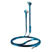 Coby CVE-101-BLU Stereo Earbuds with Built-In Mic Blue