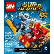 88Pieces LEGO Super Heroes Mighty Micros: The Flash vs. Captain Co Model#76063