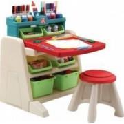 Spatiu de joaca Step2 Flip and Doodlle Easel Desk