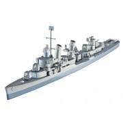 Revell U.S.S.Fletcher DD-445 1:700 Naval ship Assembly kit - maquetas de barcos, botes y submarinos (1:700, Naval ship, U.S.S.Fletcher DD-445, Assembly kit, Second World War, Avanzado)