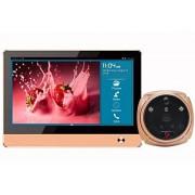 LKM Security ® LKM Security Mirilla ● 32 GB MicroSD ● 2 MP cámara – Digital – WiFi – GSM – 7 pulgadas Touch HD – ir – Aplicación – Smart Home – Bronce