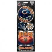 Chicago Bears 5 Pack of Stickers - Holographic Cracked Ice Design