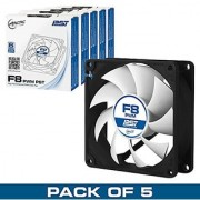 Arctic F8 PWM PST Value pack Standard Low Noise PWM Controlled Case Fan with PST Feature Cooling 5 Pack