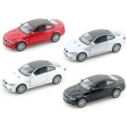 Set of 4: BMW M3 Coupe 1:36 Scale (Black Red Silver White)