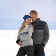 """Norweger-Pullover """"Glittertind"""" für Damen und Herren, 52 - Rauch/Kobalt/Navy/Hell Anthrazit"""