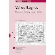Fietskaart - Topografische kaart - Wegenkaart - landkaart 46 Val de Bagnes | Swisstopo
