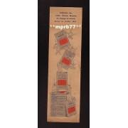 Marque Page Publicitaire 1920 - Collection Des Guides Michelin Illustrés Des Champs De Bataille Parus En Juillet 1920 - 07x24,5cm Environ - Reims Et Le Fort De La Pompelle (51)