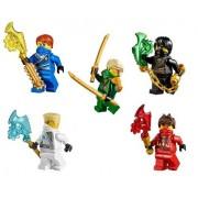 LEGO® Ninjago: Ninja's set of 5 - Lloyd, Cole, Jay, Kai, Zane Techno Robe Minifiguras