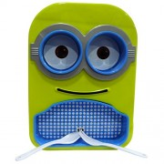 minion printed stylish colourful design multipurpose food serving Dish/plate with removable bowls,spoon &fork for kids for gift( colour may be vary)