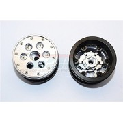 Aluminium+ Plastic Beadlock Weighted Wheels With Weight Holder & Bearings Suitable For All 2.2'' Tires - 1Pr Set Grey Silver