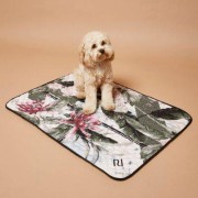 River Island Womens RI Dog Pink palm print dog blanket