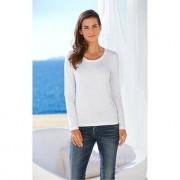 Kurzarm- oder Langarm-Basic-Shirt swiss+cotton, 40 - Weiss - Langarm