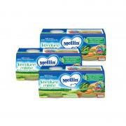 Mellin Omogeneizzati di verdure - Kit risparmio 3x Verdure Miste - KIT_3X_Confezione da 160 g ℮ (2 vasetti x 80 g)