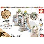 Puzzle fából 3D Monument Tower Bridge Educa 92 db 6 éves kortól