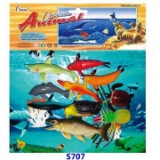 Vibgyor Vibes™ Jumbo Size Ocean/Water/Marine Animals Figures Set for Kids with a Ocean Camouflage Mat (Multi Colour)