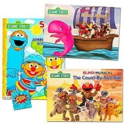 Sesame Street Elmo Pop Up Book Set For Kids Toddlers (Set of 2 Pop Up Books 1 Coloring Book Sticker)