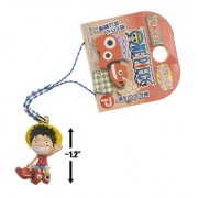 """Luffy On Akabeko (Toy Red Cow): ~1.2"""" Fukujima Exclusive Micro Figure Charm"""