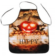 rosegal Halloween Pumpkin Print Kitchen Cooking Apron