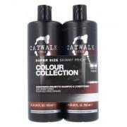 Tigi Catwalk Colour Collection Brunette Duo Kit , g für Frauen - 750ml Catwalk Fashionista Brunette Shampoo + 750ml Catwalk Fashionista Brunette Conditioner für braune Haare