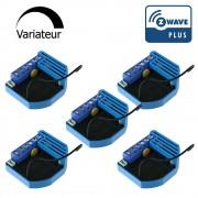Pack de 5 modules Variateur Z-Wave Plus encastrable - QUBINO