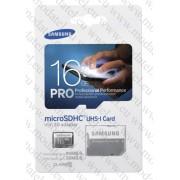 Micro SDHC card + Adapter (16GB class 10) Samsung Pro