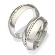 Luxusní Ocelové snubní prsteny 7040-1