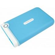 HDD Extern Transcend 25M3B, 2.5 inch, 1TB, USB 3.0, Protectie la soc (Alb/Albastru)